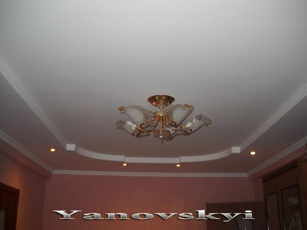 Потолки из гипсокартона фото в зале своими руками